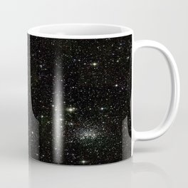 Universe Space Stars Planets Galaxy Black and White Kaffeebecher