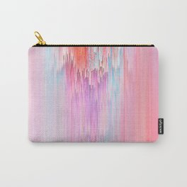 Abstract Cascade Glitch 2.Red and Pink Carry-All Pouch