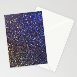 Blue and Gold Sparkles Stationery Cards