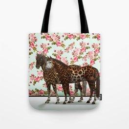 Leopard Horses Tote Bag