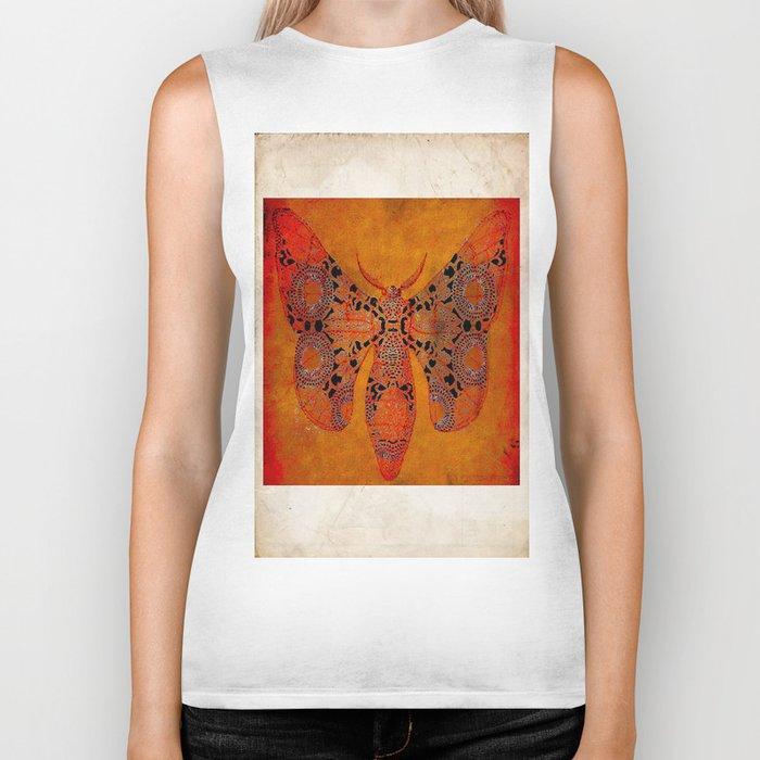 """Le papillon"""" Belle époque """" Biker Tank"""