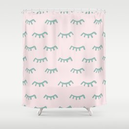 Sleeping Eyes Of Wisdom-Pattern - Mix & Match With Simplicity Of Life Shower Curtain