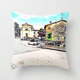 Fognano: building and church Throw Pillow