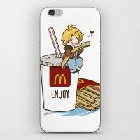 hetalia iPhone & iPod Skins featuring Hetalia - America Loves McDonalds  by BlacksSideshow