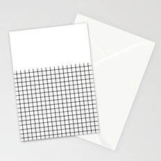 Dotted Grid Black on White Boarder Stationery Cards