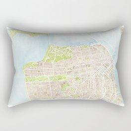 San Francisco CA City Map  Rectangular Pillow