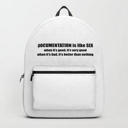 Documentation is like sex Backpack
