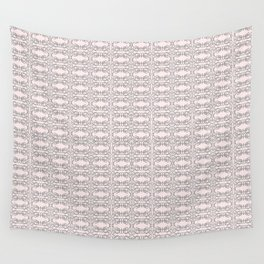 Modern Gray Lace on Pink Pattern Wall Tapestry