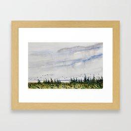 the bay - la Baie Framed Art Print