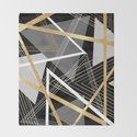 Original Gray and Gold Abstract Geometric by lisaguenraymond