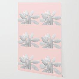 White Blush Cacti Vibes #1 #plant #decor #art #society6 Wallpaper