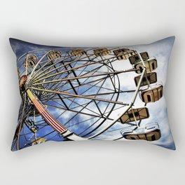Vintage photo of ferris wheel Rectangular Pillow