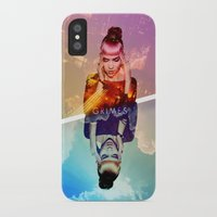 grimes iPhone & iPod Cases featuring GRIMES by OmaPRINTS