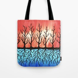 Tree Trunks & Root Systems Tote Bag