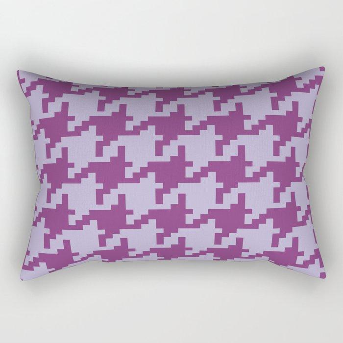 Houndstooth - Purple Rectangular Pillow