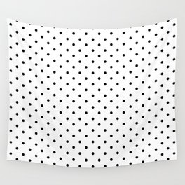 Minimal - Small black polka dots on white - Mix & Match with Simplicty of life Wall Tapestry