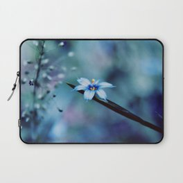 Blue on blue Flower Photography, Symphony in Blue Laptop Sleeve