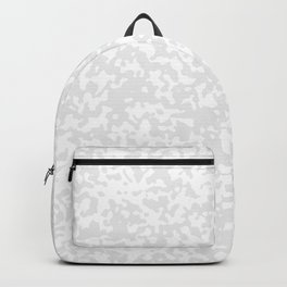 Small Spots - White and Pale Gray Backpack