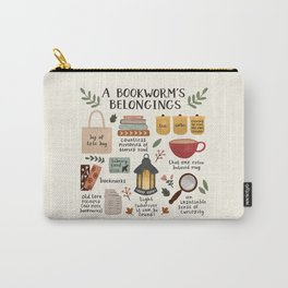 A Bookworm's Belongings Carry-All Pouch
