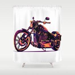 Motorcycle Pop-Art Shower Curtain