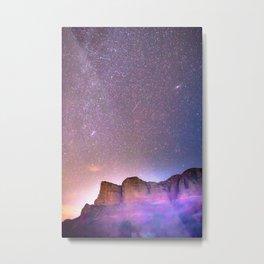 Sedona Arizona Night Sky, Meteors, and Stars Metal Print