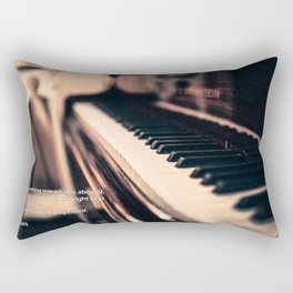 Bach's Piano Rectangular Pillow