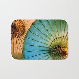 Chinese Paper Umbrellas Bath Mat