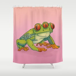 3 EYES FROG Shower Curtain