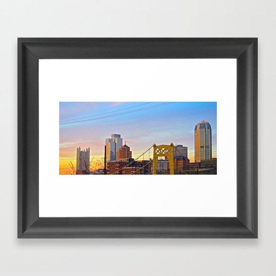 Sunset from the Southside Framed Art Print
