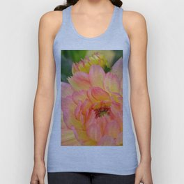 """""""Coral Tipped"""" Dahlia by Teresa Thompson Unisex Tank Top"""