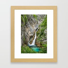 Savica Waterfall Photography Nature Framed Art Print