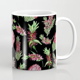Watercolour Australian Native Floral Print - Bottlebrush and Protea Coffee Mug