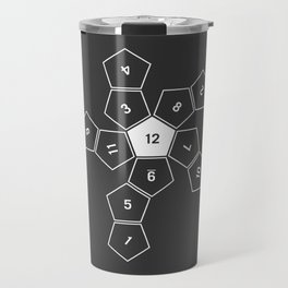 Grey Unrolled D12 Travel Mug