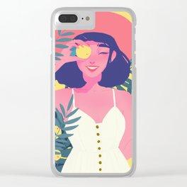 Citrus girl Clear iPhone Case