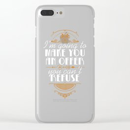 Make You An Offer Clear iPhone Case