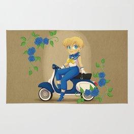 Retro Sailor Uranus Rug