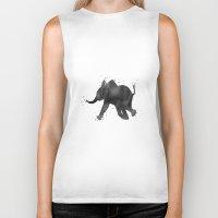 baby elephant Biker Tanks featuring Baby Elephant by Carma Zoe