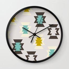 Cool retro shapes Wall Clock