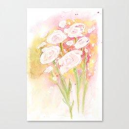 white flower bouquet Canvas Print