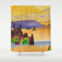 desert Shower Curtains featuring Desert by Kali Thomas