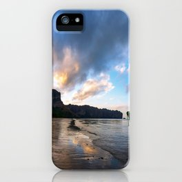 Ao Nang beach rabi at sunset iPhone Case