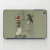 robin hood iPad Cases featuring Little Red Robin Hood by Santo76