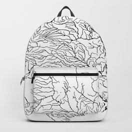 US River Map, River art, American River Map, Hydrological Map Backpack