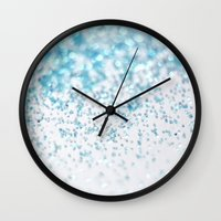 glitter Wall Clocks featuring Glitter by Monika Strigel