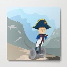 Napoleon Segways the Alps Metal Print