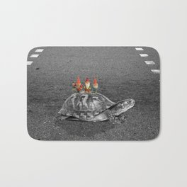 gnomes on a turtle Bath Mat