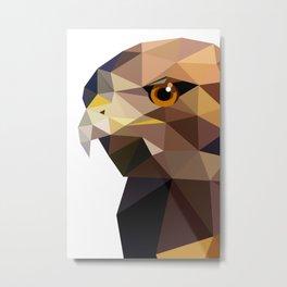 Bird artwork Red tailed hawk  Geometry Metal Print