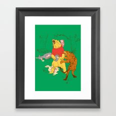 A Very Naughty Bear Framed Art Print