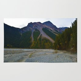 Kinney Flats on the Berg Lake Trail in British Columbia, Canada Rug