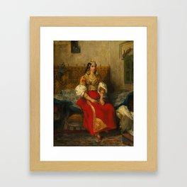 "Eugène Delacroix ""Juive de Tanger en costume d'apparat"" Framed Art Print"